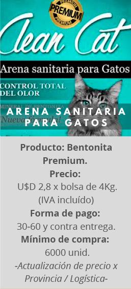 Arena sanitaria para Gatos Clean Cat